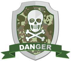 emblema aggressivo con teschio