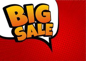 Gran venta de cómic discurso burbuja diseño - Vector