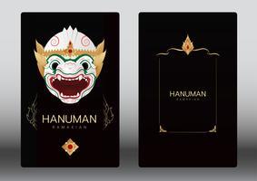 Hanuman, Ramayana, Tailandia danza de máscara clásica, tarjeta de lujo
