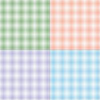 pastel twill plaids vector