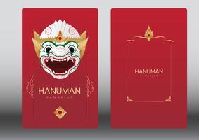 Hanuman, Ramayana, Thaïlande Danse classique avec masque, carte de luxe