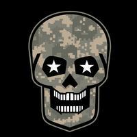 emblème agressif avec crâne