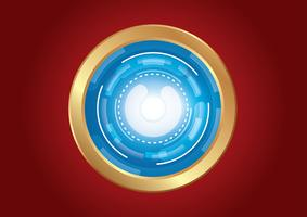 technology circle effect light abstract background