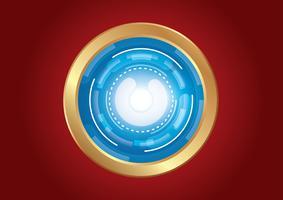 technologie cercle effet lumière abstrait
