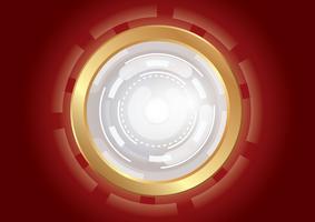 tecnología círculo efecto luz fondo abstracto vector