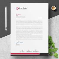 Modernt företags brevhuvud