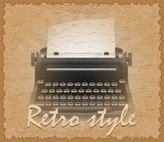 retro style poster old typewriter vector illustration