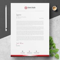 Modern briefpapier van het bedrijf