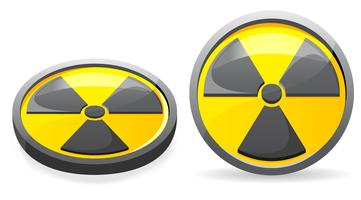 an emblem is a sign of radiation vector illustration