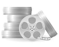 movie reel vector illustration