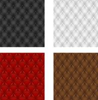 set multicolored leather upholstery seamless background