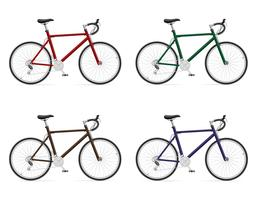 Bicicletas de carretera con ilustración de vector de cambio de marcha