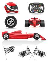 set racing icons vector illustration EPS 10