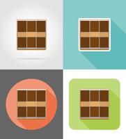 wardrobe furniture set flat icons vector illustration