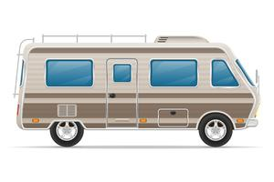 illustration vectorielle de voiture van caravane camping car mobile home