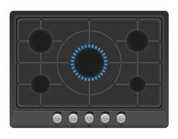 surface for gas stove vector illustration