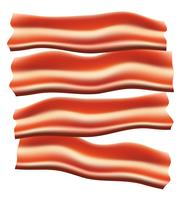 pieces of fried bacon vector illustration