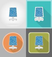solar battery flat icons vector illustration