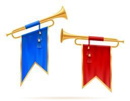 königliche goldene horn trompete vektorabbildung