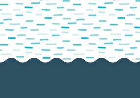 Dashed Waves Background vector