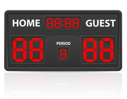 football soccer sports digital scoreboard vector illustration