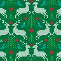 embroidered prancing reindeer pattern