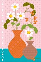 daisies and berries vector graphic placement