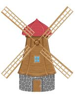 Windmühle-Vektor-Illustration
