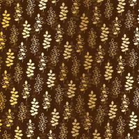 gold leaf pattern on brown