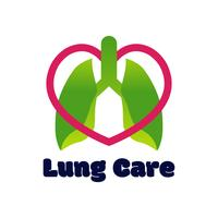 lungs logo isolated on white background for pulmonary clinic. vector