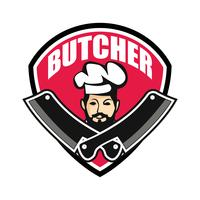 butcher logo isolated on white background
