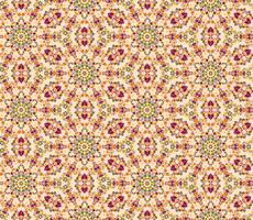 Abstract oriental floral seamless pattern. Flower mosaic ornament