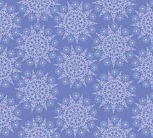 Snow seamless pattern, winter holiday snowflakes background. vector
