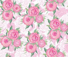 Naadloze bloemmotief. Bloem achtergrond. Bloom tuin textuur