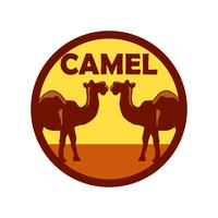 camel logo isolated on white background
