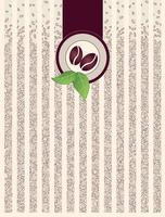 Coffee shop pack background. Border pattern with falling coffee beans