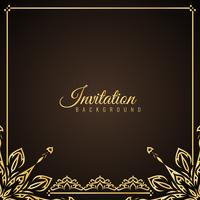 Abstract stylish Invitation background