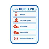 CPR Cardiopulmonary Resuscitation sign and symbol
