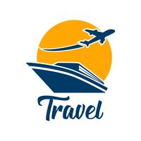 travel tourism logo isolated on white background vector