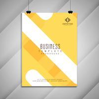 Diseño brillante abstracto elegante de la plantilla del folleto del negocio