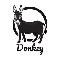 donkey logo isolated on white background