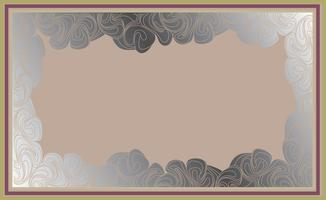Frame in doodle style. Retro border background vector