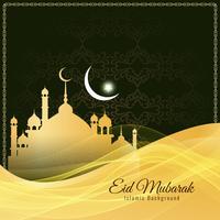 Abstract religious Eid Mubarak stylish background design vector