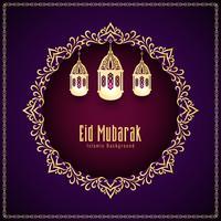 Fondo decorativo astratto di Eid Mubarak