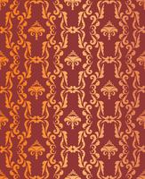 Floral geometric pattern. retro oriental flourish ornament.