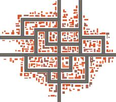 City maps vector