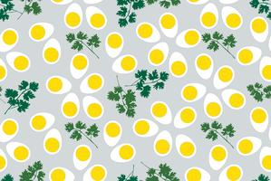 Egg seamless pattern. Food background.