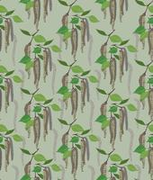 leaves seamless pattern. Spring floral birch leaf background.