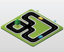 Track racing vector