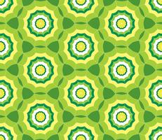 Seamless green pattern background with stylized umbrella